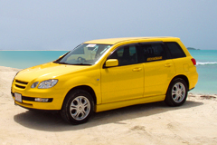car rental yellow